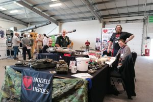 M4H table at a Tank Museum well being event.